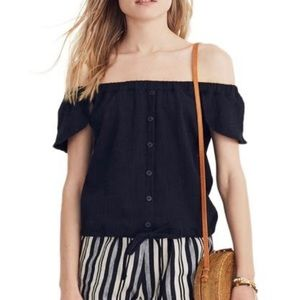 NWT Madewell Off the shoulder Crop Top | M